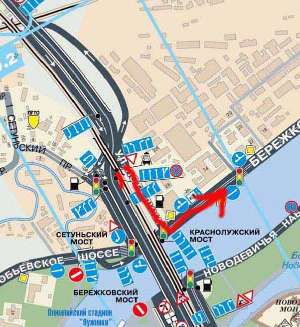 Схема проезда до кутузовский проспект в метро